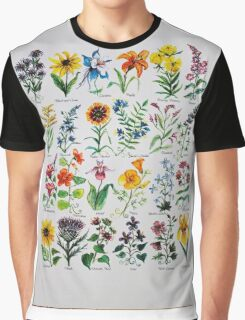 Wildflower Alphabet Graphic T-Shirt