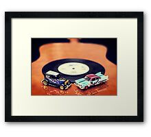 Blues and Rock Cars Framed Print