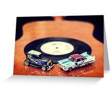 Blues and Rock Cars Greeting Card