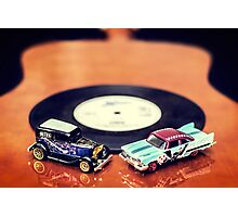 Blues and Rock Cars Photographic Print