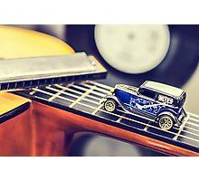 Blues Car Photographic Print