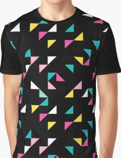 Retro triangle. Pink, yellow, blue Graphic T-Shirt