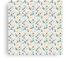 Retro polygonal seamless pattern Canvas Print