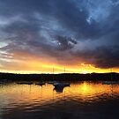 Rain Clouds Looming over Sunset by Of Land & Ocean - Samantha Goode