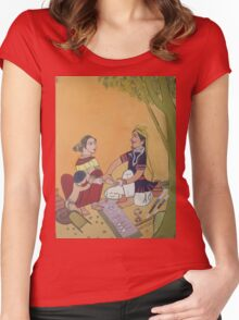 Bangles sale man and Village woman Women's Fitted Scoop T-Shirt