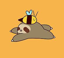 Sloth and Bee by SaradaBoru