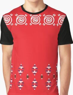 Original Red Slavic Folk Design ( Designers Fashion ) Luxury Collection Graphic T-Shirt