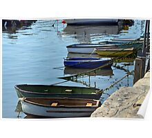 Small Boats at Lyme Harbour............ Poster