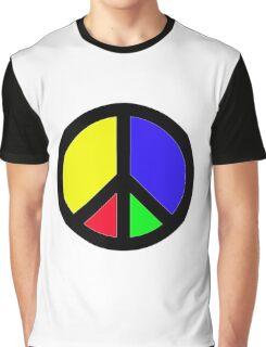 Rainbow Peace Graphic T-Shirt