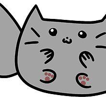 Fluffy Gray Cat by SaradaBoru