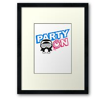Party On Power Energie Logo Framed Print