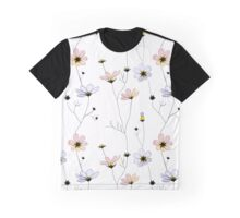 Delicate flowers on white Graphic T-Shirt