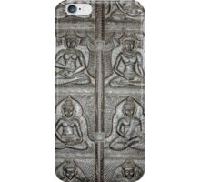 8 Buddhas Wall Carving iPhone Case/Skin
