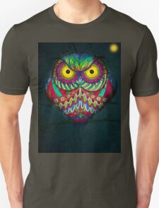 """""""Angry Owl by Night"""" Unisex T-Shirt"""