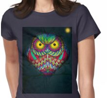 """Angry Owl by Night"" Womens Fitted T-Shirt"