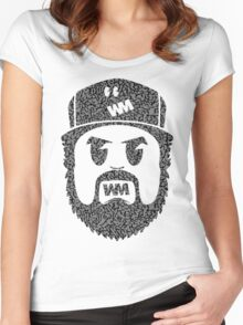 BeardMonger (Elephant Print) Women's Fitted Scoop T-Shirt