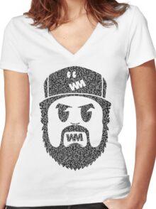 BeardMonger (Elephant Print) Women's Fitted V-Neck T-Shirt