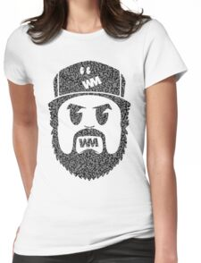 BeardMonger (Elephant Print) Womens Fitted T-Shirt