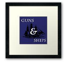 Hamilton: Guns & Ships Framed Print