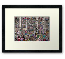 The hall of fame Framed Print