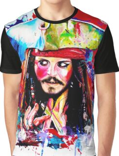 """Captain Jack Sparrow"" Graphic T-Shirt"