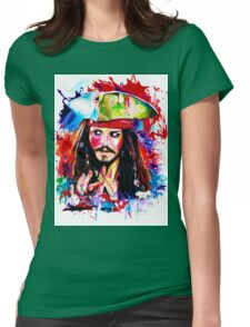 """""""Captain Jack Sparrow"""" Womens Fitted T-Shirt"""