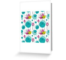 Yoga Lotus pattern Greeting Card