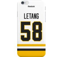 Pittsburgh Penguins Kris Letang Away Jersey Back Phone Case iPhone Case/Skin