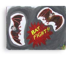 Bat Fight! What We Do in the Shadows Canvas Print