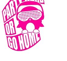 Party Hard or Go Home Logo Design by Style-O-Mat