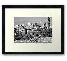 Athenian Acropolis from Philopappou Hill, 1960, B&W Framed Print