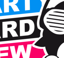 Party Hard Crew Logo Sticker