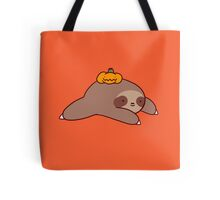 Sloth and Pumpkin Tote Bag