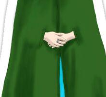 Elf Lady, Green Cloak, White Hair, Elven, Spirit Sticker