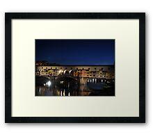 Ponte Vecchio -Florence, Italy Framed Print