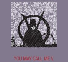 You may call me V. by Rant423