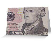 portrait of the American president  Hamilton Greeting Card