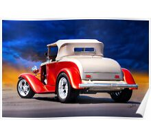 1932 Chevrolet Roadster 'Journey's End' Poster