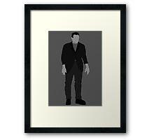 Classic Monsters - Frankenstein's Monster - Black and White Framed Print