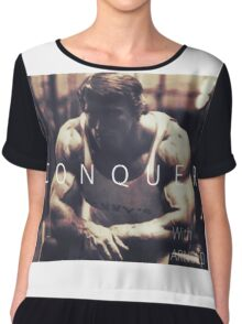 Conquer with Arnold Schwarzenegger Chiffon Top