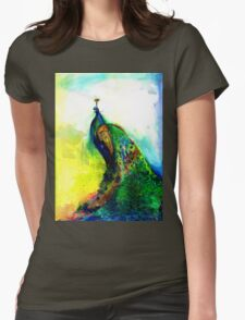 """""""Peacock"""" Womens Fitted T-Shirt"""