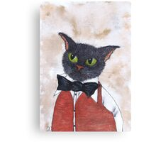 CAT IN BOW TIE Canvas Print
