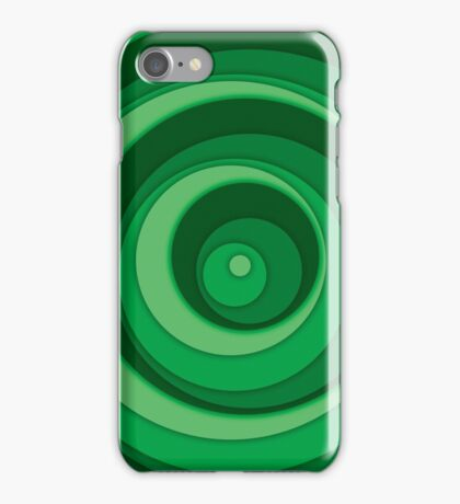 Nested Dots - Green iPhone Case/Skin
