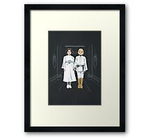 SKYWALKER TWINS Framed Print