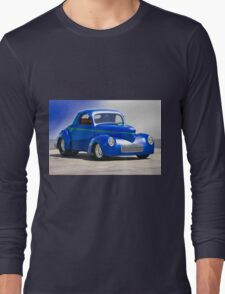 1941 Willys Coupe 'Blue Studio' Long Sleeve T-Shirt