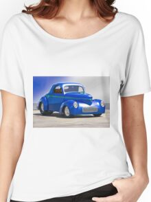 1941 Willys Coupe 'Blue Studio' Women's Relaxed Fit T-Shirt