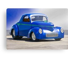 1941 Willys Coupe 'Blue Studio' Metal Print
