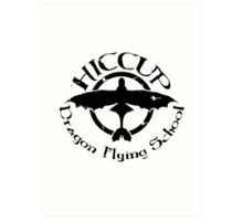 Hiccup's Dragon Flying School Art Print