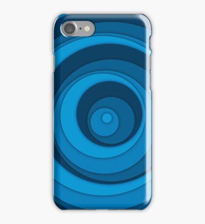 Nested Dots - Blue iPhone Case/Skin