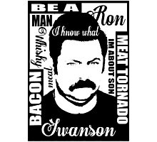 Ron Swanson parks and rec  Photographic Print